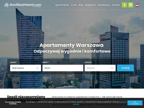 Shortstaypoland.com apartamenty w Warszawie