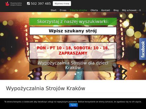 Strojeprzebrania-krakow.pl wypożyczalnia Kraków