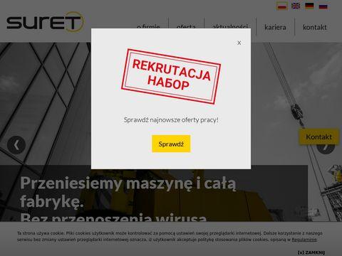 Suret-relokacje.pl przemieszczanie maszyn
