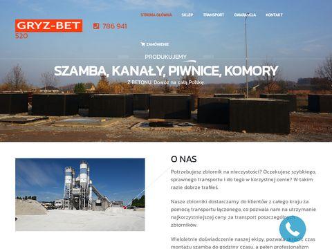 Szamba-gryzbet.pl betonowe
