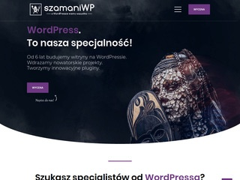 Szamaniwp.pl strony na wordpressie