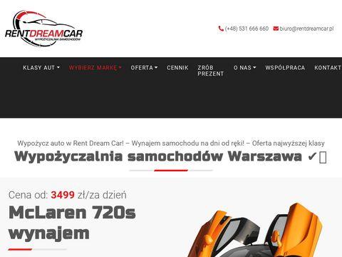 Rentdreamcar.pl wypożyczalnia aut luksusowych