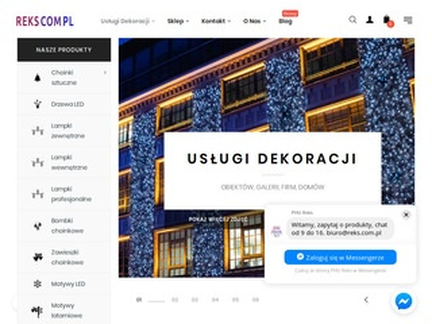 Reks.com.pl dekoracje świąteczne LED