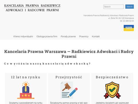 Radkiewicz.net.pl kancelaria prawna podział majątku