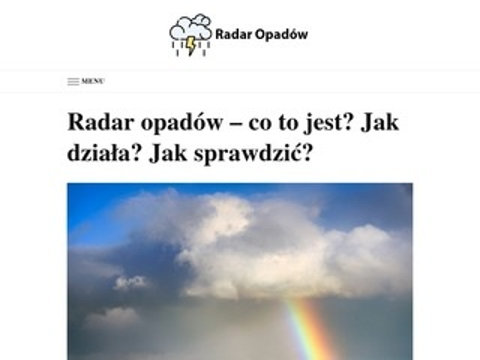 Radaropadow.live - zobacz opady