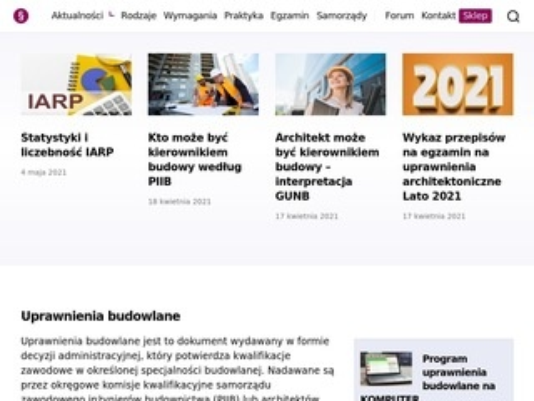 Uprawnieniabudowlane.pl program