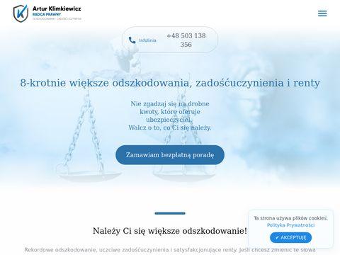 Wieksze-odszkodowanie.pl radca Artur Klimkiewicz