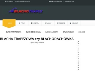 Superblacha.eu producent blachodachówek