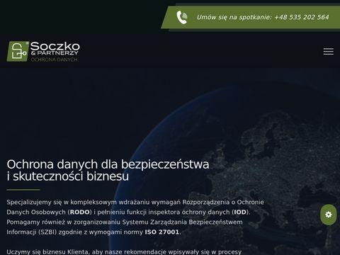 Soczko.pl ochrona danych osobowych