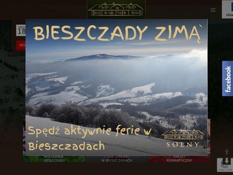 Solny.com.pl hotel w Bieszczadach