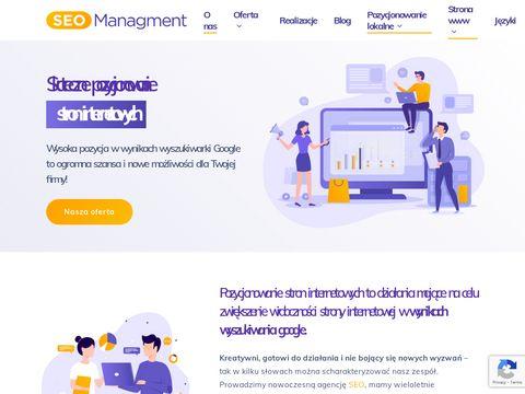 Seo Managment pozycjonowanie stron internetowych
