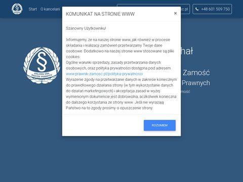 Prawnik-zamosc.pl radca prawny Michał Wierzchowski