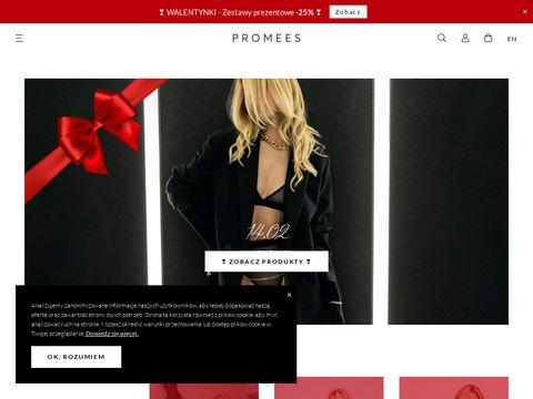 Promees.pl - stanik z paskami z przodu