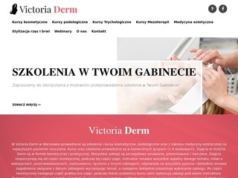 Victoria Derm - kursy kosmetyczne