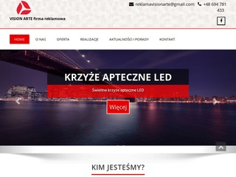 Visionarte.pl reklama podświetlana