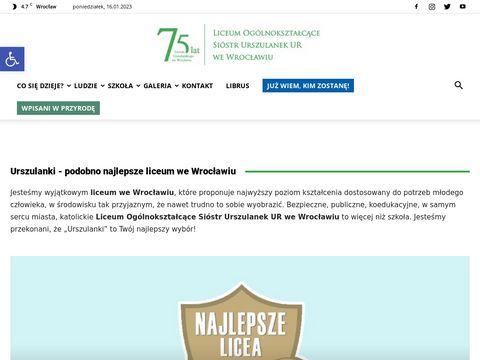Urszulanki.edu.pl L.O. we Wrocławiu