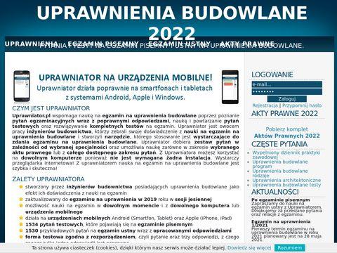 Uprawniator.pl uprwnienia budowlane program