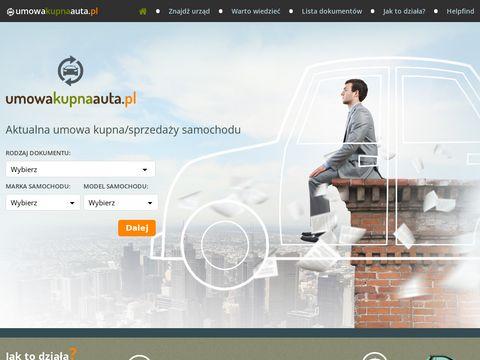 Umowakupnaauta.pl niezbędne dokumenty