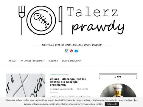 Blog dotyczący zdrowego żywienia - talerzprawdy.pl