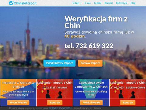Chinskiraport.pl weryfikacja firmy