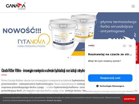 Canadarubber.pl izolacje natryskowe dachów
