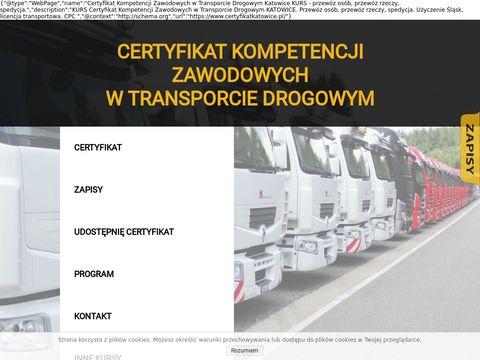 Certyfikatkatowice.pl kurs kompetencji zawodowych