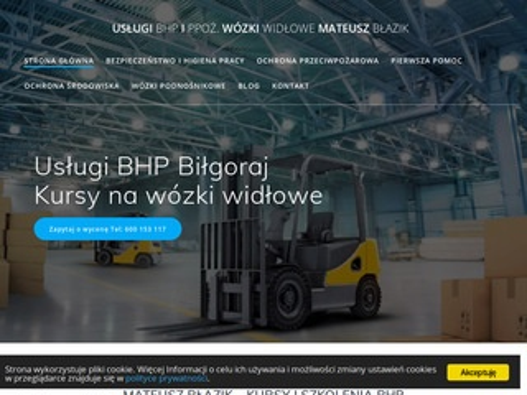 Bhpiww.pl usługi BHP Mateusz Błazik