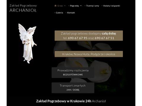 Archaniol.com.pl zakład pogrzebowy Kraków