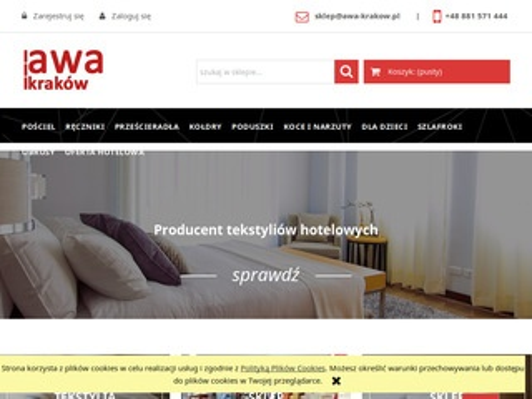 AWA producent tekstyliów hotelowych Kraków