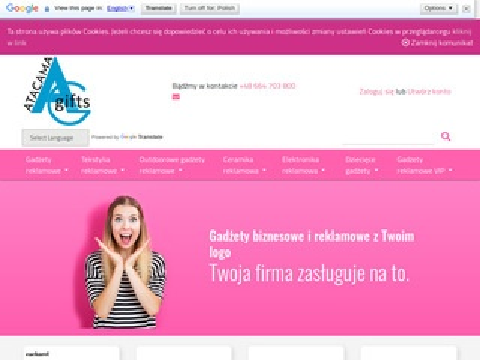 Atacama.com.pl tekstylia i gadżety z nadrukiem