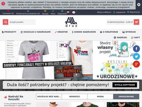 Alldrux.pl nadruki na koszulki