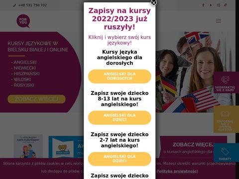 Foryou.edu.pl kurs angielskiego Bielsko