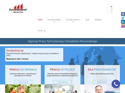 Europersonnel.pl oferty pracy Dębica