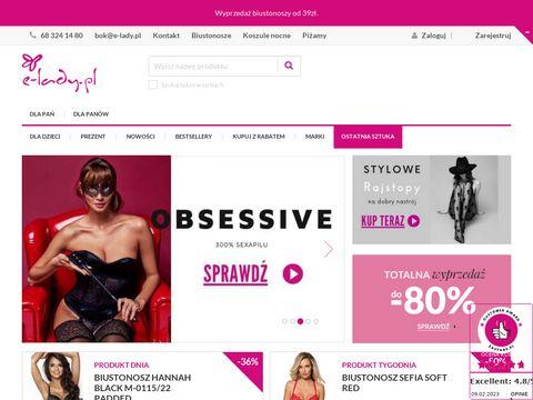 E-lady.pl sklep z wyjątkową bielizną