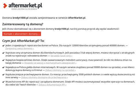Kredyt1000.pl szybka chwilówka przez internet