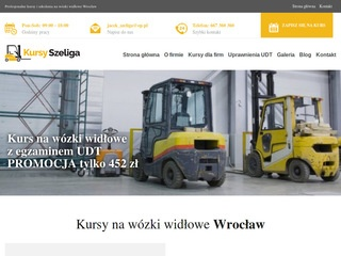 Kursy-szeliga.pl na wózki widłowe