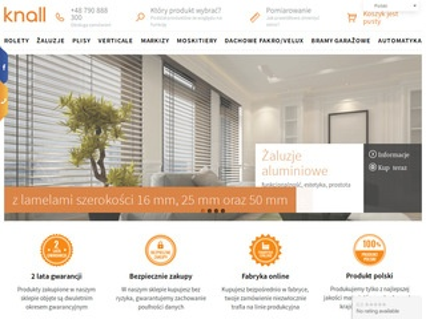 Knall.com.pl sklep internetowy z roletami