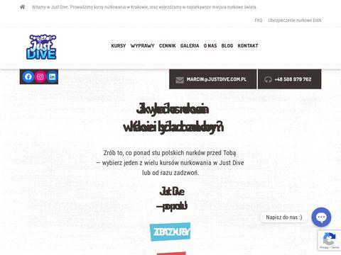 Justdive.com.pl nurkowanie Kraków