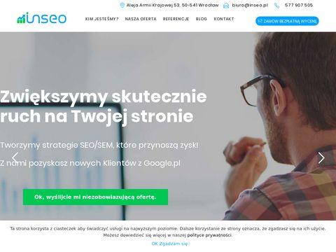 Inseo.pl skuteczne pozycjonowanie stron