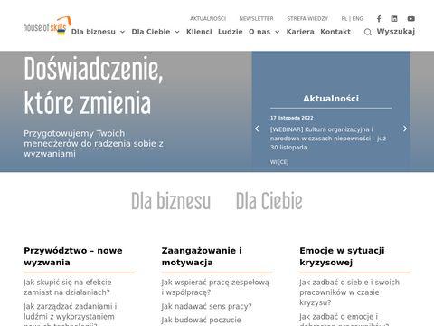 Houseofskills.pl szkolenia menedżerskie