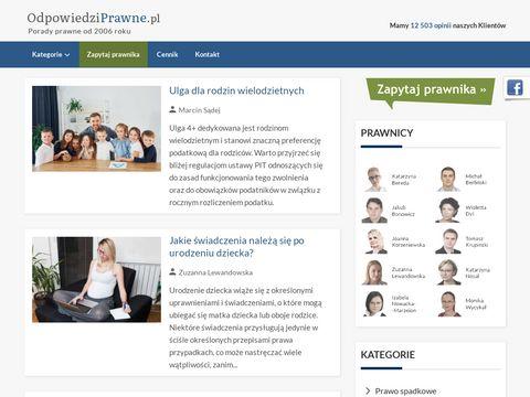 Odpowiedziprawne.pl porady