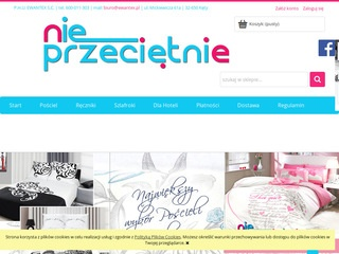 Nieprzecietnie.pl pościel satynowa sklep online
