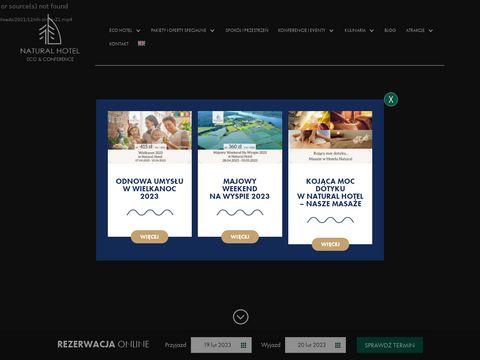 Naturalhotel.pl z plażą nad jeziorem Mazury