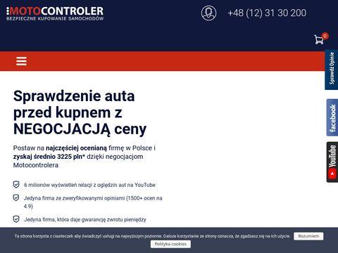 Motocontroler.com sprawdzenie samochodu