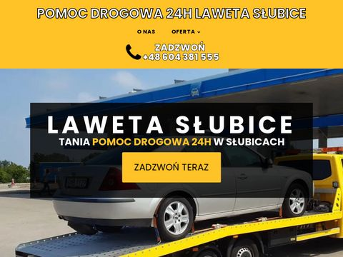 Laweta-slubice.com.pl pomoc drogowa 24h Niemcy