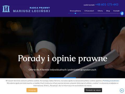 Usługi prawne dla firm lecinski.pl
