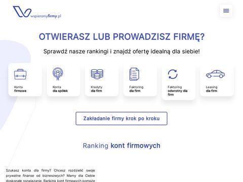 Wspieramyfirmy.pl ranking kont firmowych